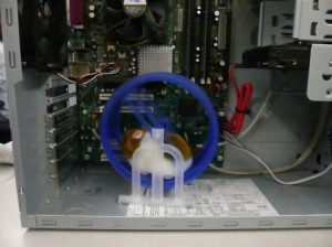 Hamster in a wheel driving your computer
